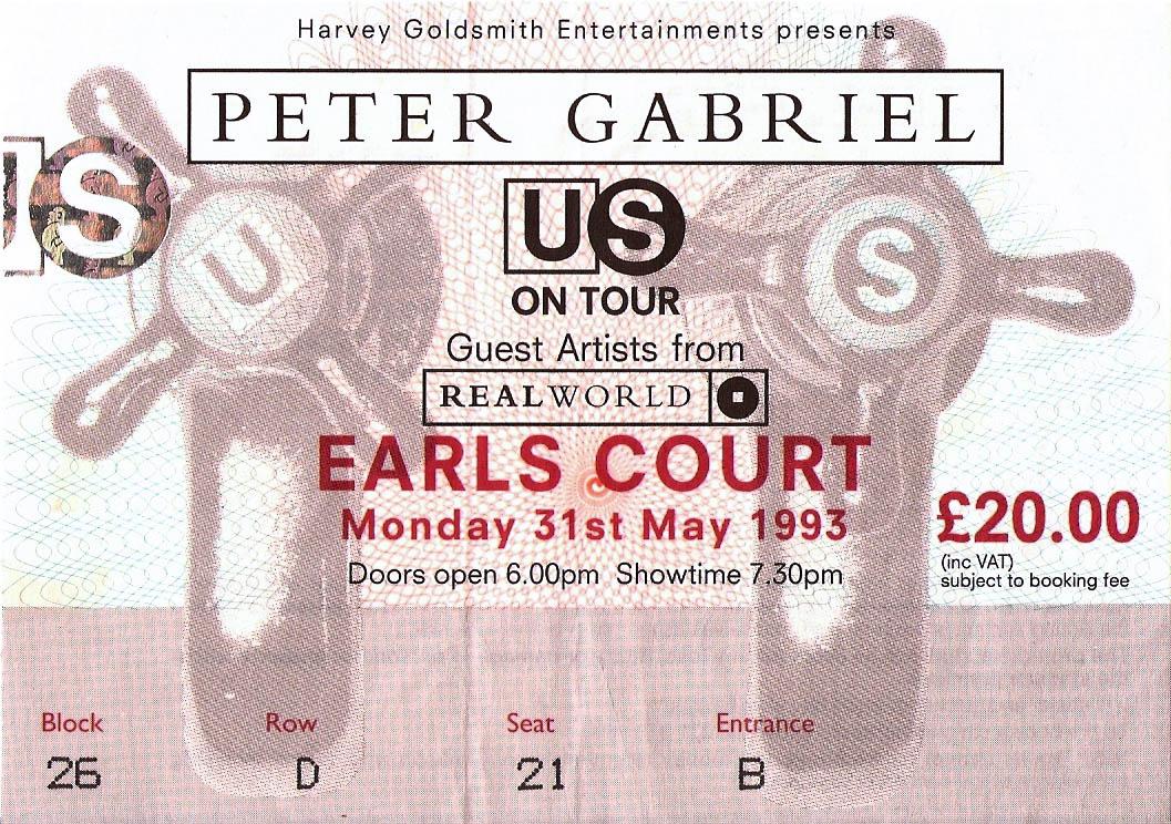 Peter Gabriel – Secret World Tour –1993